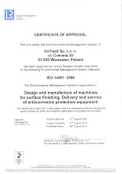 ISO 9001:2008 - Certificate of Approval