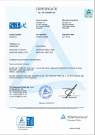 TÜV Certificate of conformity for SciTeeX production plant